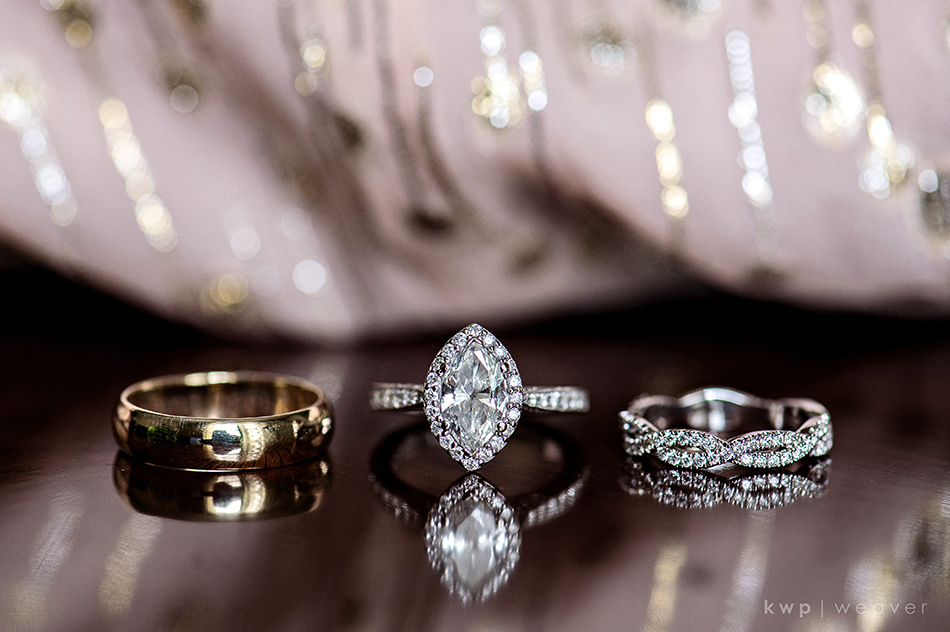Marquis cut diamond wedding ring set