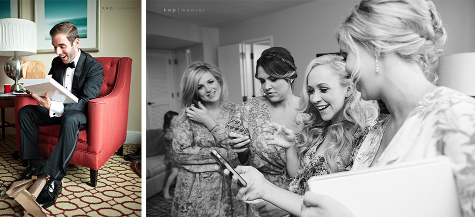 Bride and groom gift exchange