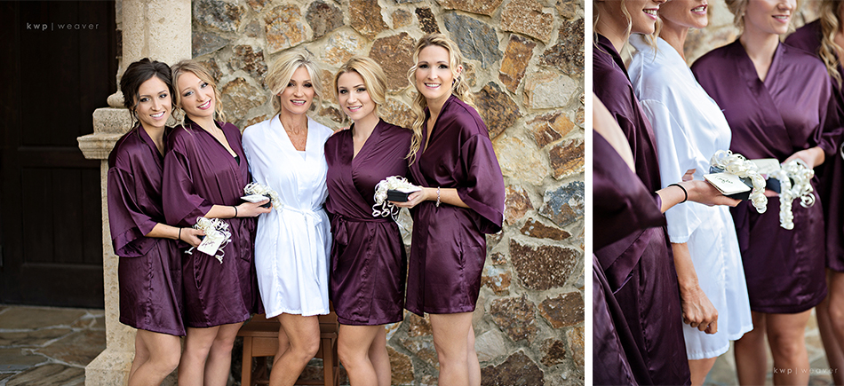 Plum Bridesmaids wedding robes