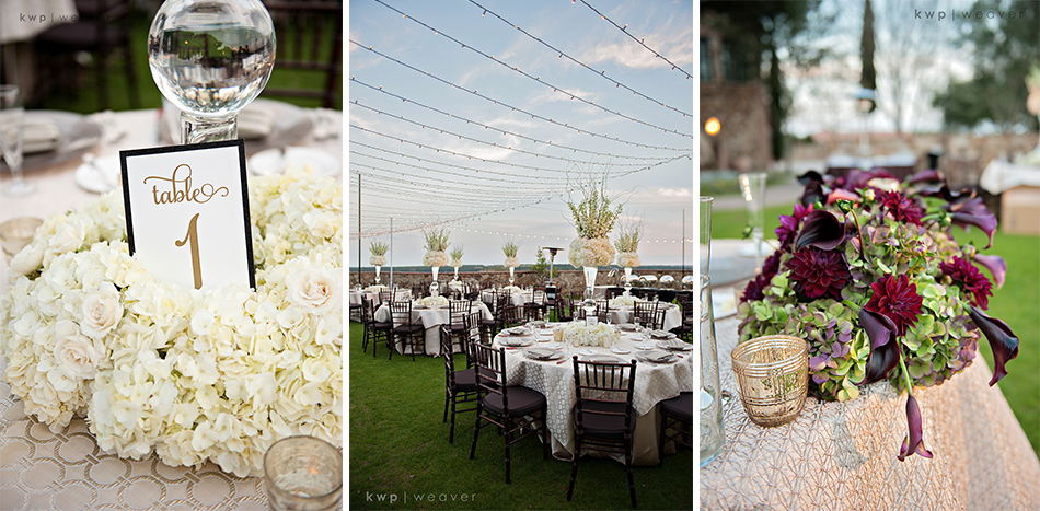 reception details at bella collina