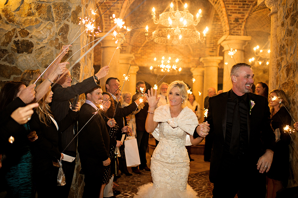 Bella Collina Wedding sparkler exit