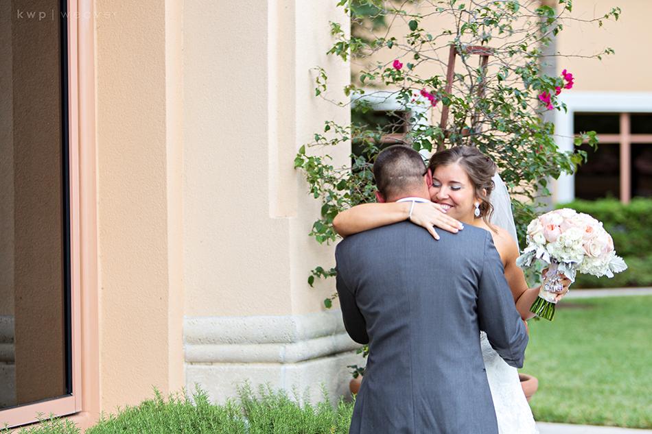 First Look at rosen shingle creek wedding