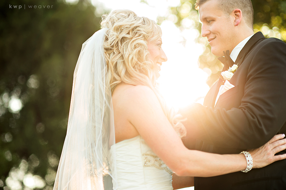 golden hour wedding photo