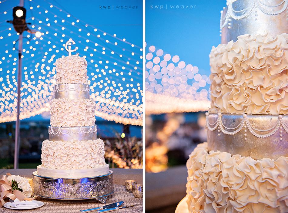 Mixed Texture Wedding Cake