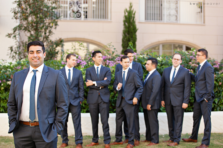 groomsmen blue suit