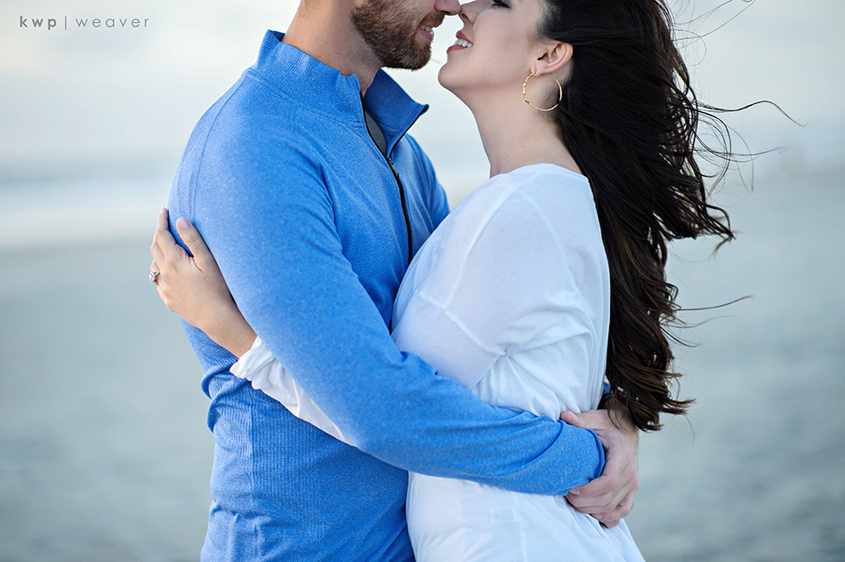 florida beach engagement session