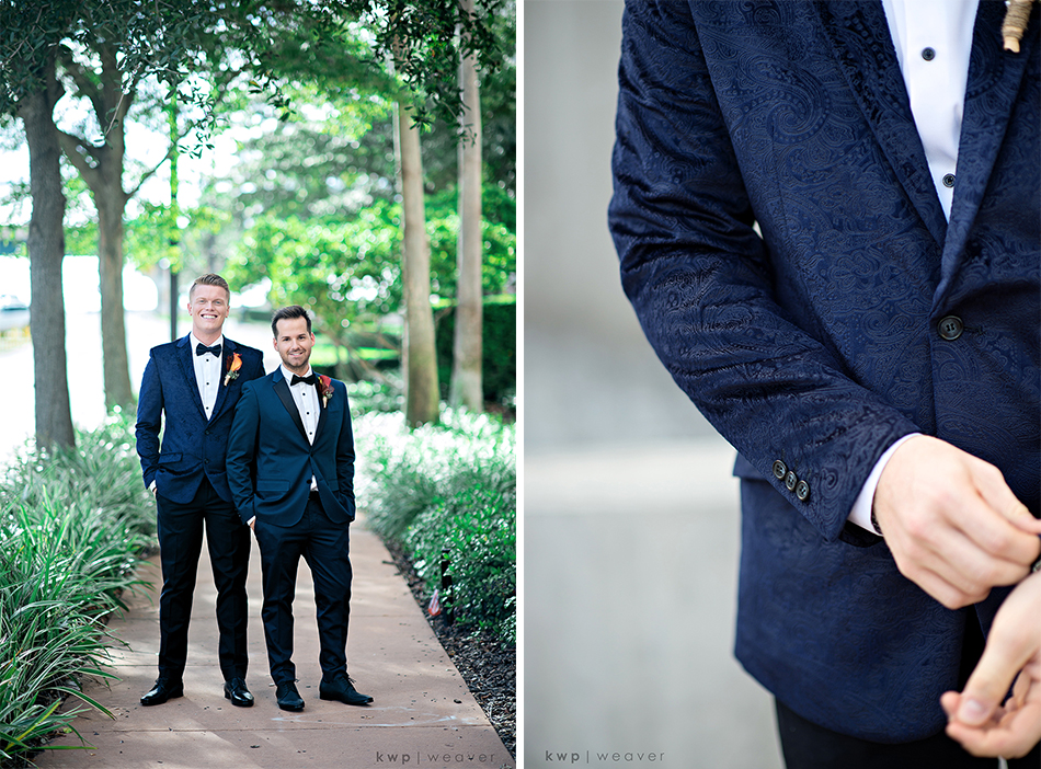 Black and Navy Grooms