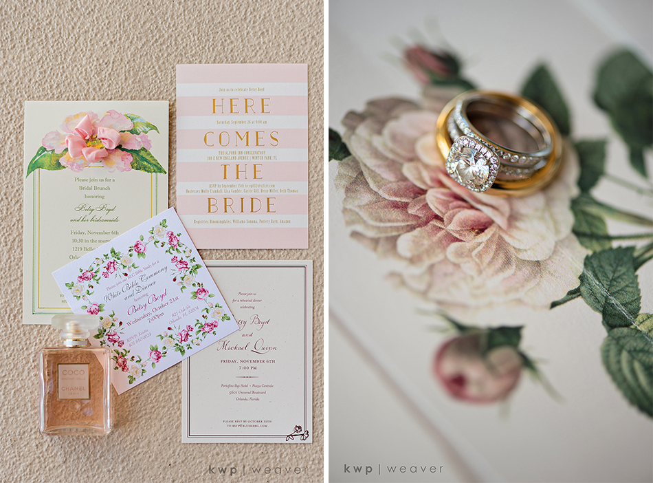 pink and beige fall wedding palette