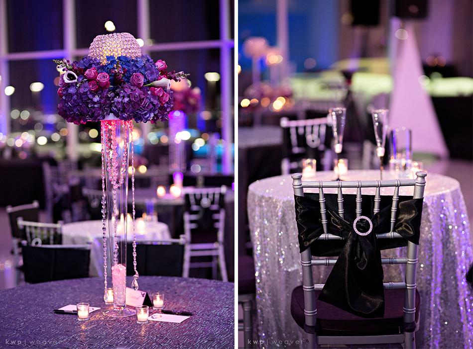 Glam purple wedding