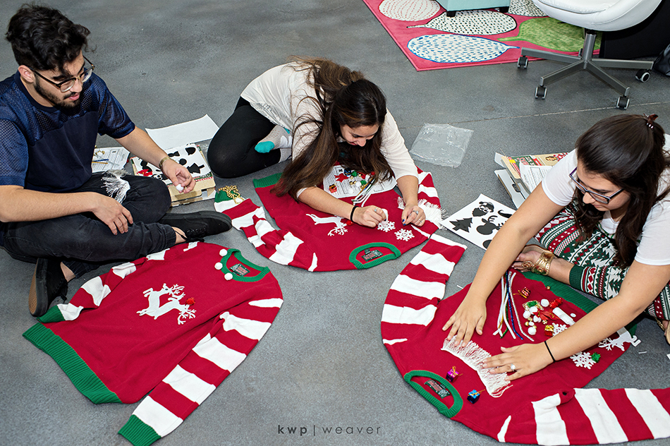 making ugly sweaters