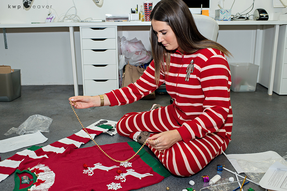 christmas ugly sweater making kit