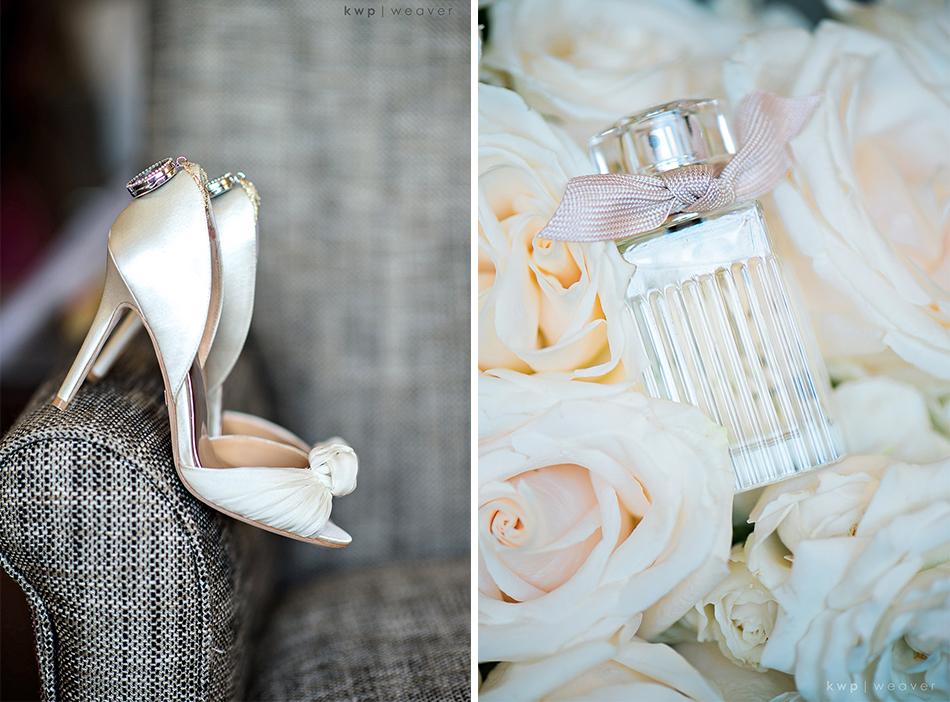 White brides details