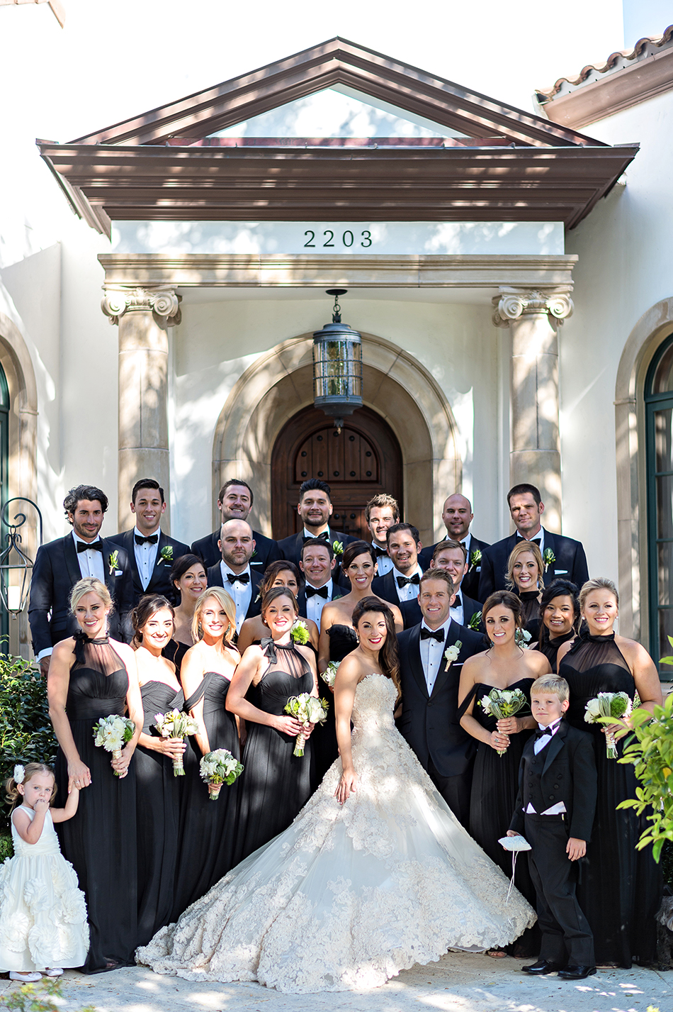 modern wedding party