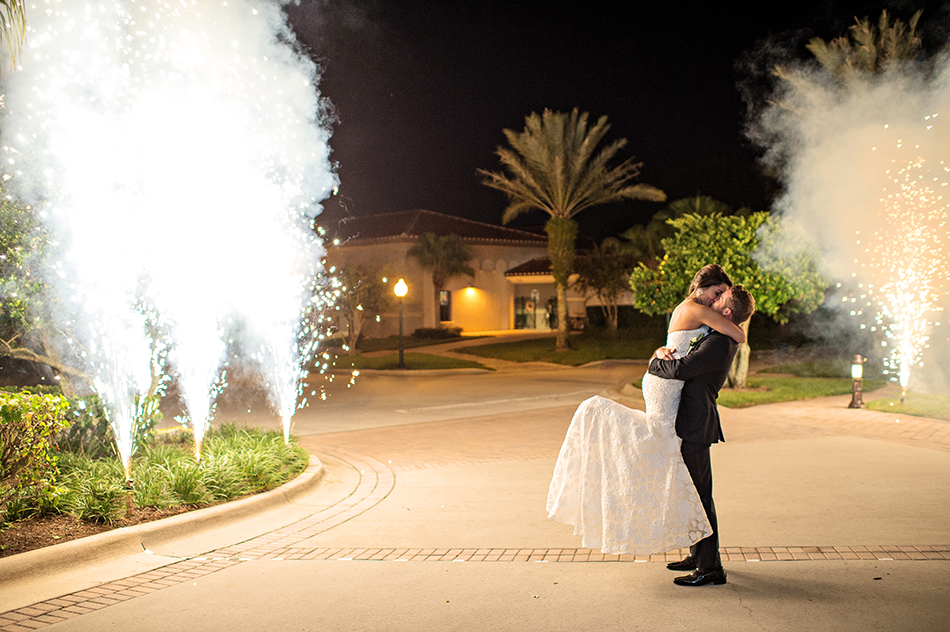 wedding firework exit