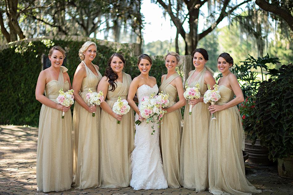 Golden Colour Wedding Gowns: Andrea And Ben - Orlando Wedding