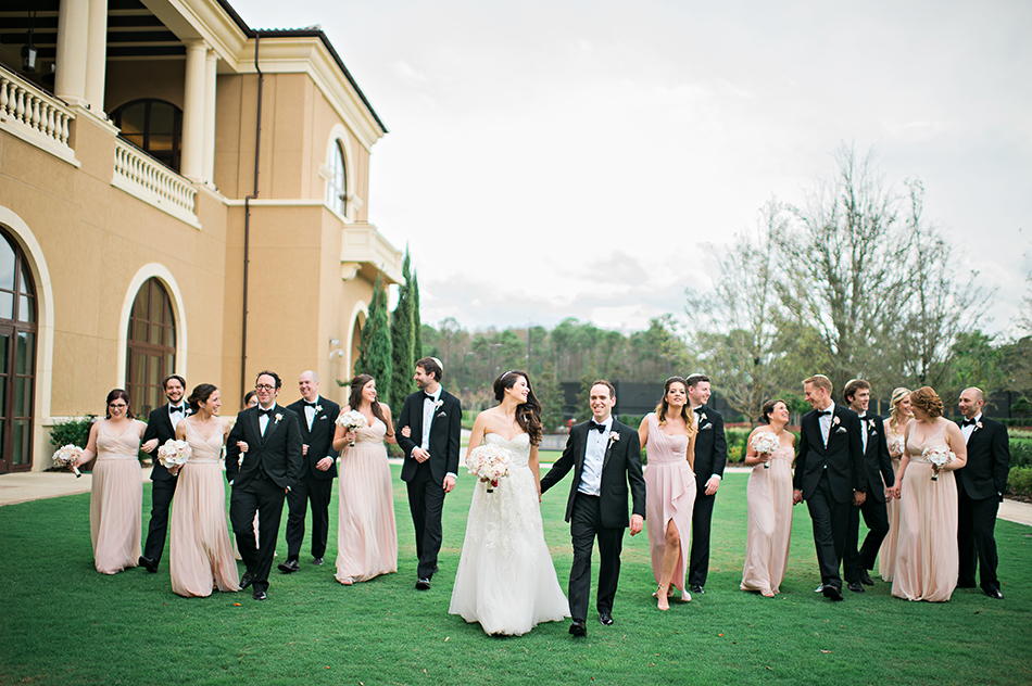 blush wedding party