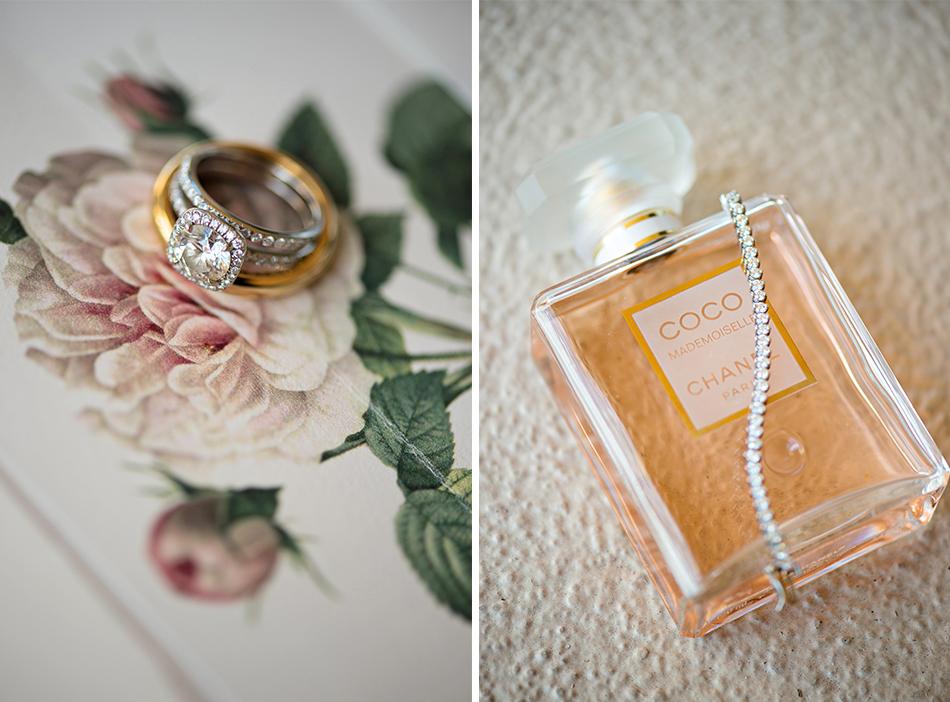 rose colored wedding details