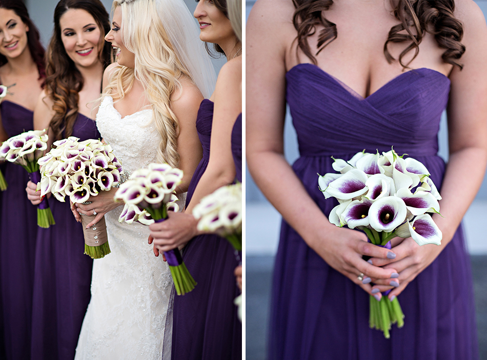 purple Wtoo bridesmaids gowns