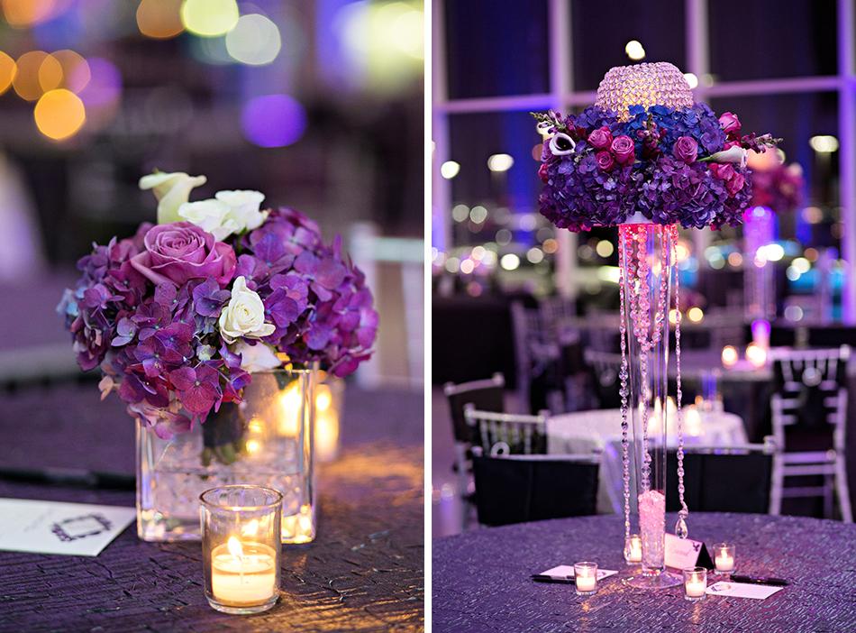violet wedding details