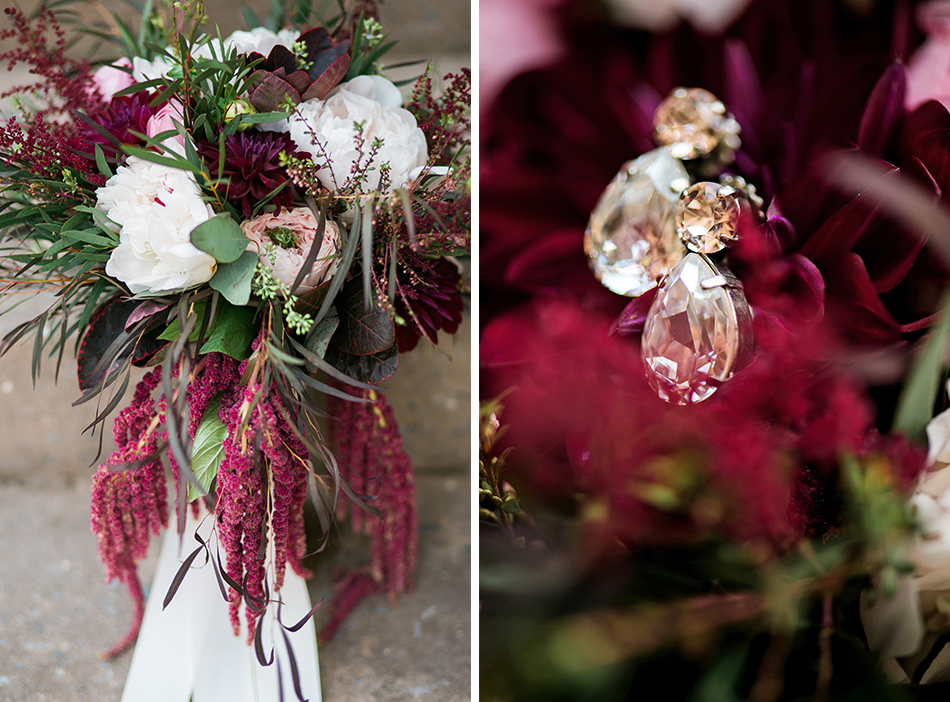 maroon wedding bouquet