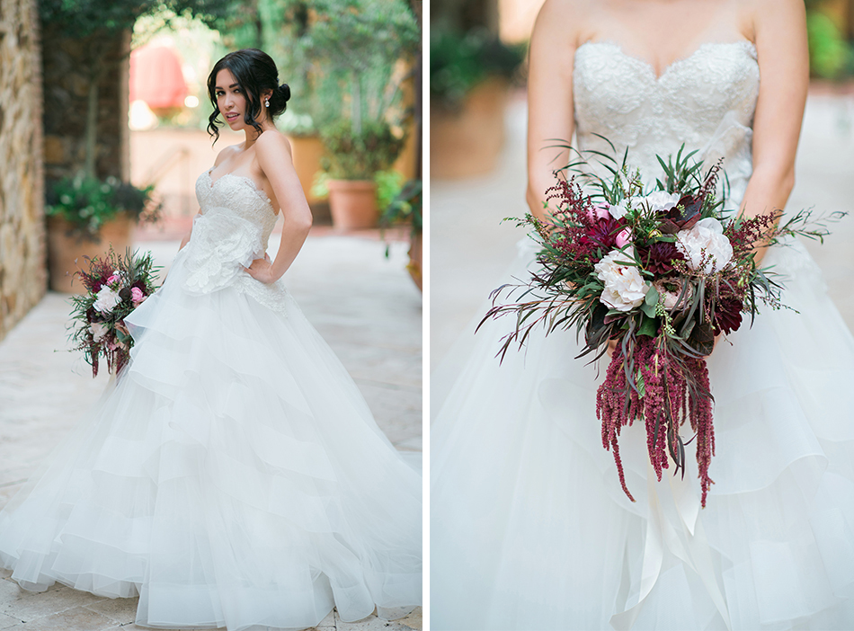 blush and maroon wedding