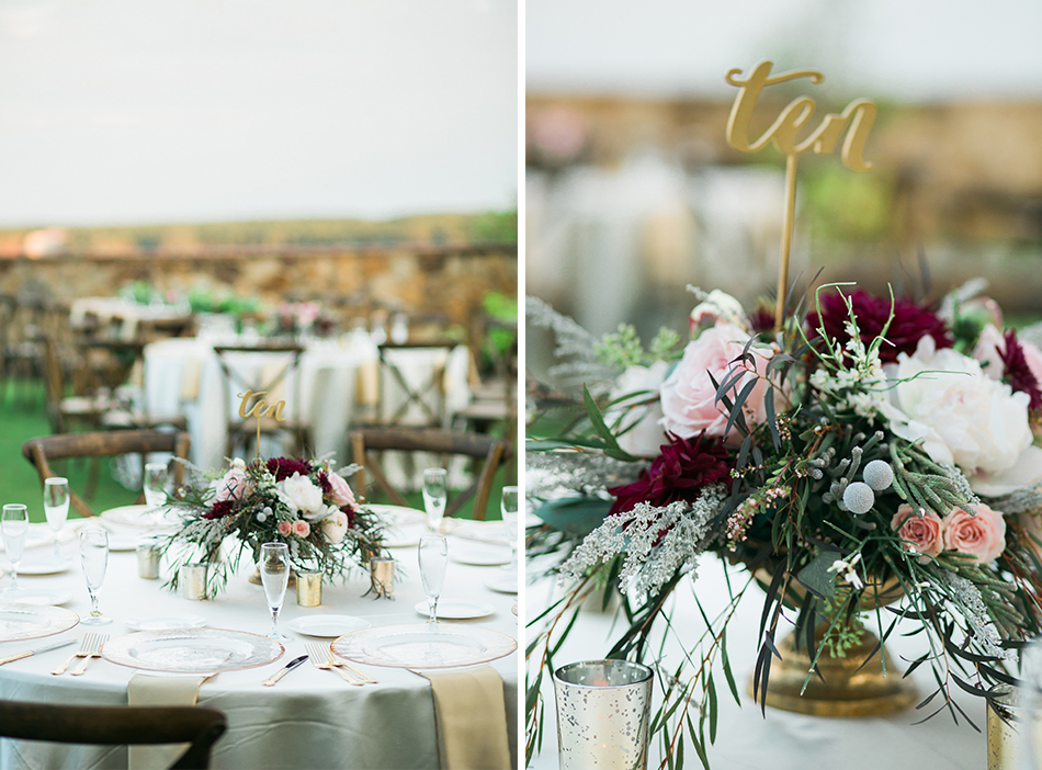 wedding table floral