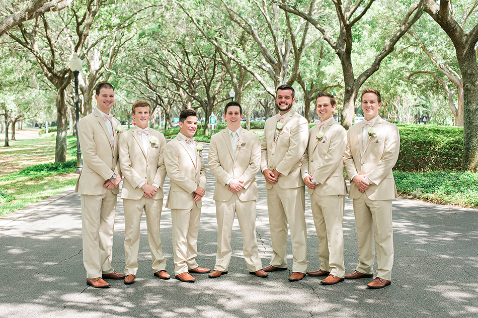 tan groomsmen suits