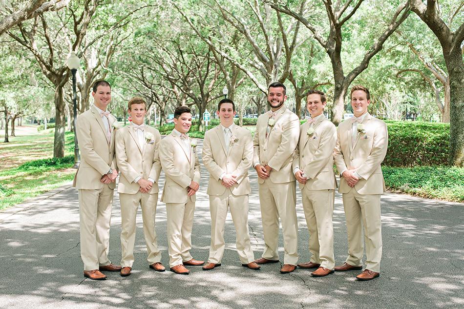 tan groomsmen suits