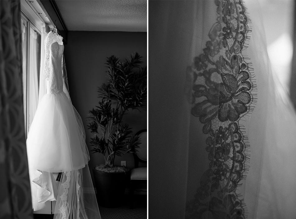jim hjelm wedding gown details