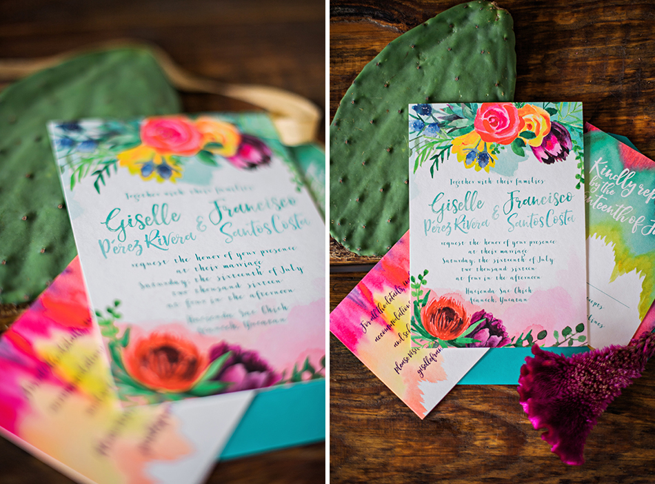 colorful floral stationery