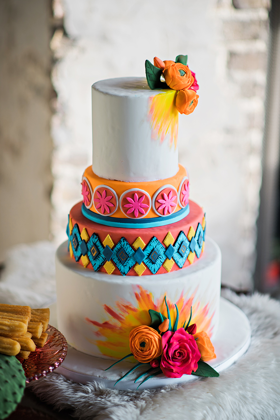 handpainted colorful cake