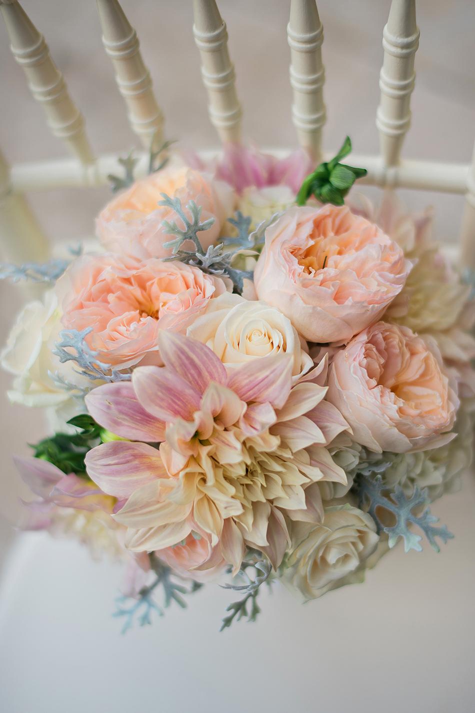 dusty pastel bouquet
