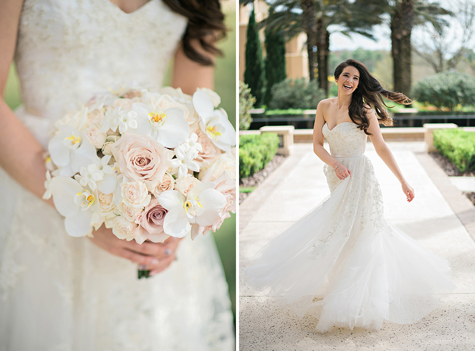 stunning white and light pink bouquet