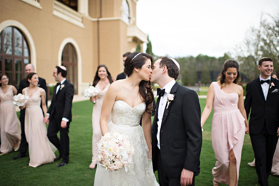 unique pose wedding portrait