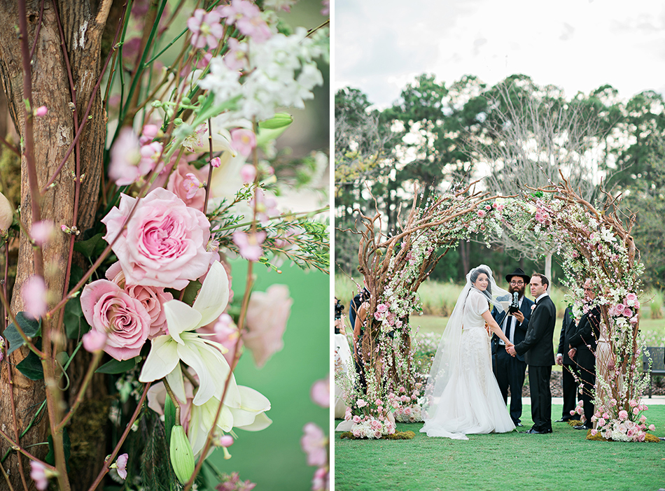raining roses wedding floral ceremony