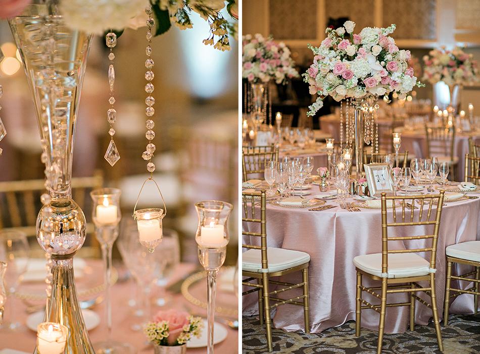 elegant tall reception centerpieces