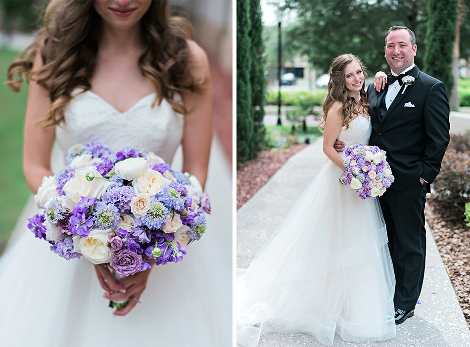 gorgeous purple bride bouquet
