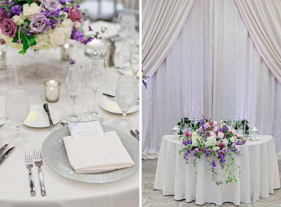 purple sweethearts table