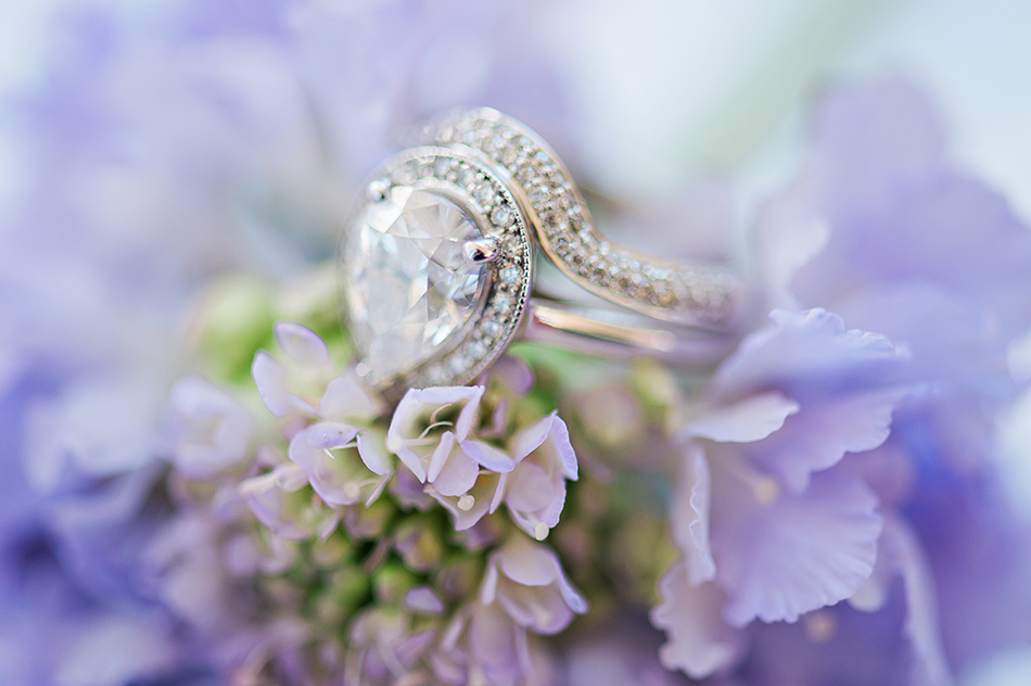 classic and modern engagement ring