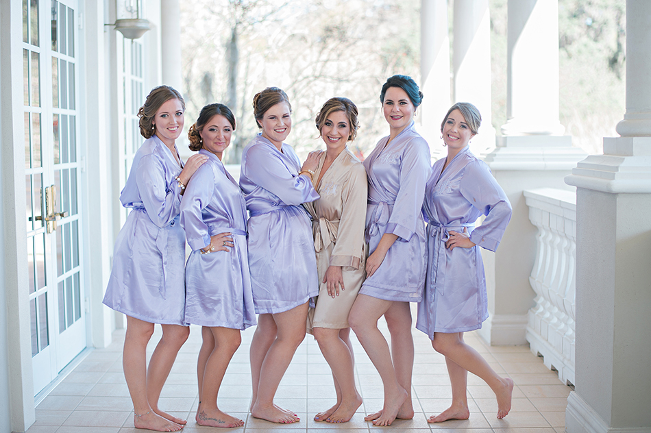 lavender wedding robes