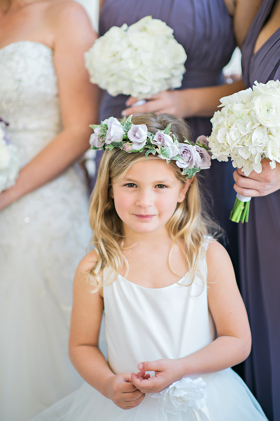 purple rose flower girl crown