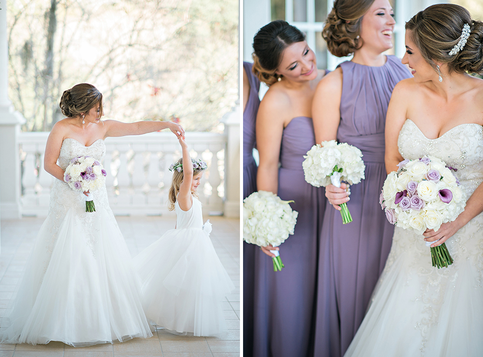flowergirl and bridesmaids
