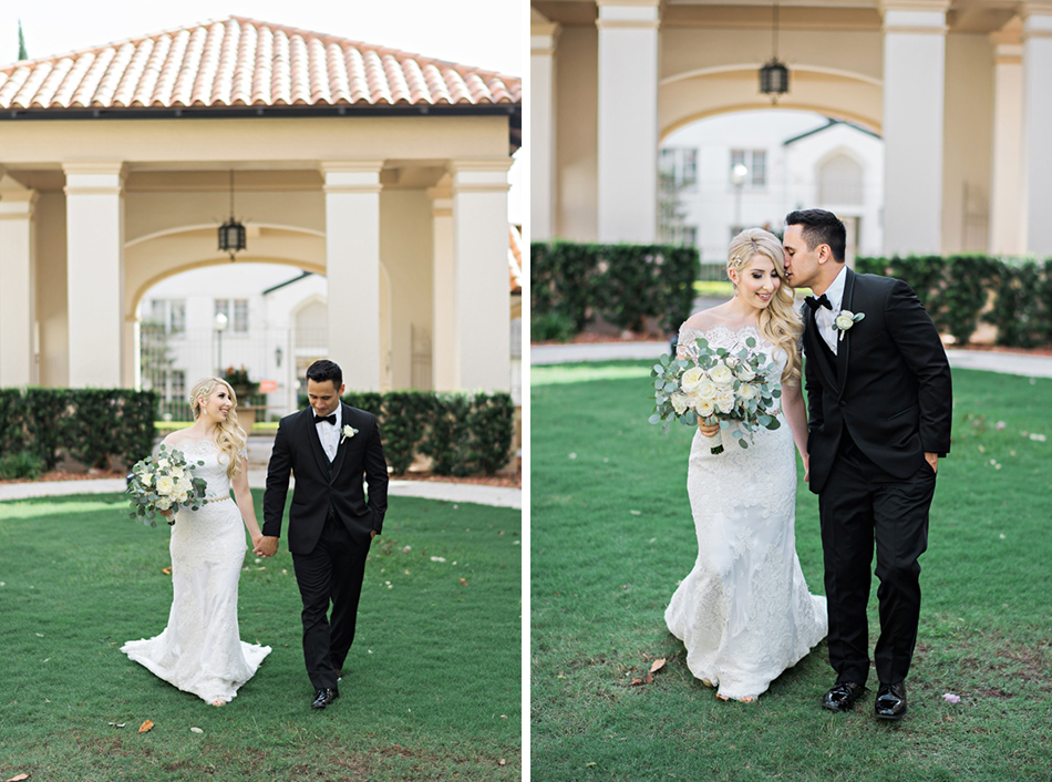 Film bride and groom portraits
