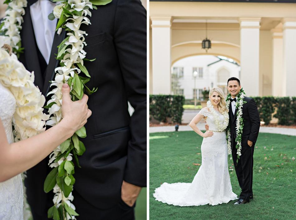 Wedding leis. Samoan wedding accessories