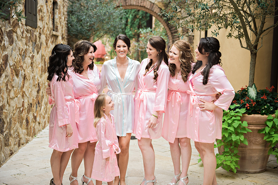 Silk pink Bridesmaids robes