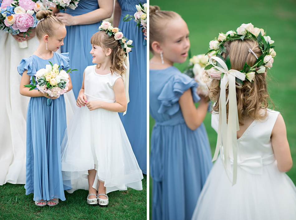 Flower girls and junior bridesmaid