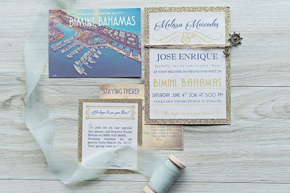 Bahamas wedding invitations