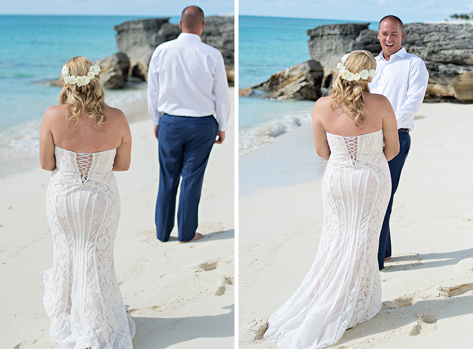 First Look photography in the Bahamas