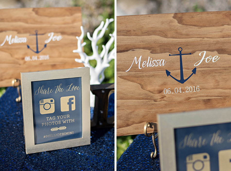 Nautical theme ceremony decor