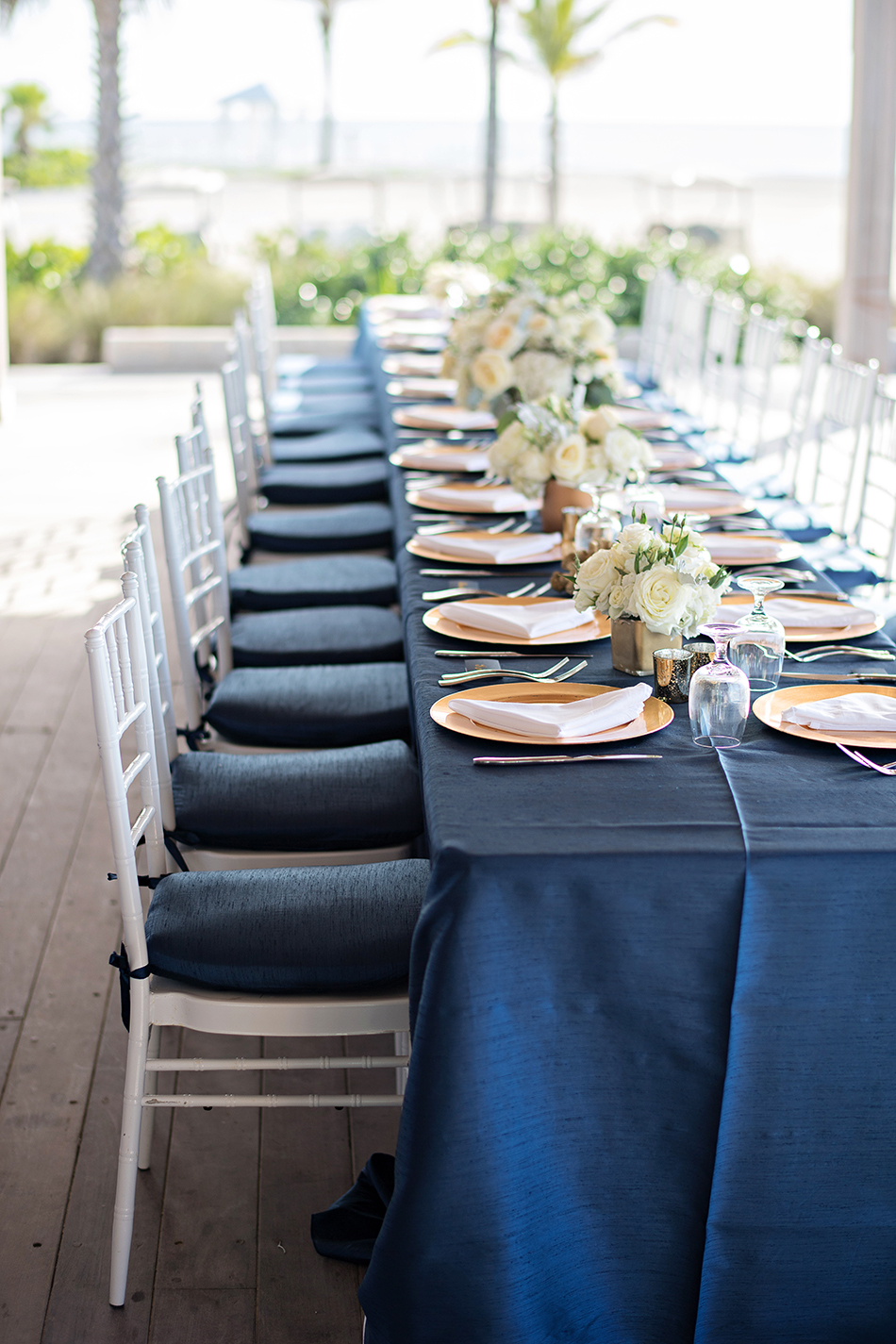 Intimate wedding dinner table